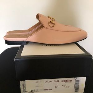 Gucci Princetown Mule Perfect Pink Size 7 NEW